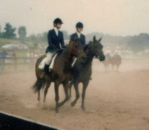 Dynamo and I (left) at the District 4-H horse show